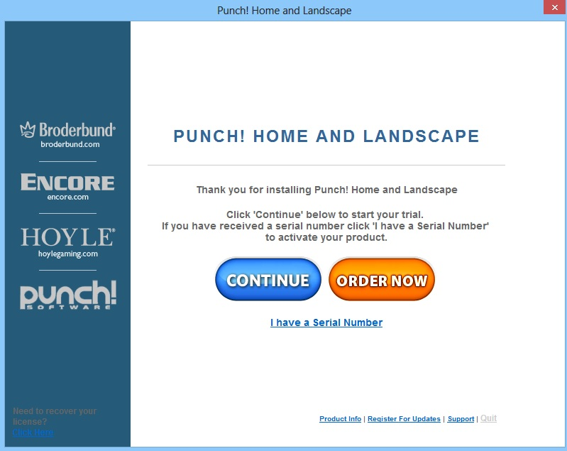 How do i register punch home landscape design 17 5 for Punch home landscape design 17 5 trial