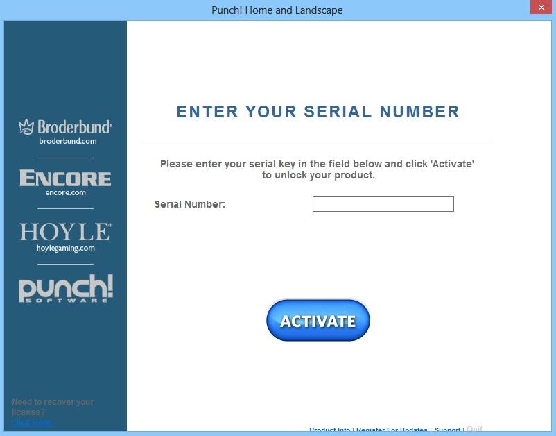 How Do I Register Punch Home Landscape Design 17 5 Technical Support Encore